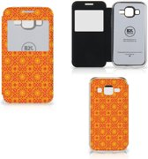 Samsung Galaxy Core Prime Telefoon Hoesje Batik Orange