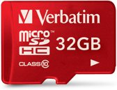 Verbatim Tablet Micro SDHC 32GB Class 10 UHS-I incl Adapter