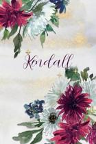 Kendall: Personalized Journal Gift Idea for Women (Burgundy and White Mums)
