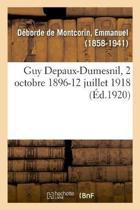 Guy Depaux-Dumesnil, 2 Octobre 1896-12 Juillet 1918
