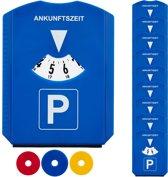 relaxdays parkeerschijf - set van 10 - winkelwagenmuntjes - ijskrabber - parkeerkaart