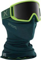Anon Relapse goggle green / sonar smoke (met MFI mask en extra amber lens)