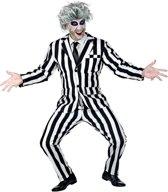 Horror Films Kostuum | Streepjes Beetlejuice Spook | Man | XL | Halloween | Verkleedkleding