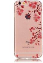 GadgetBay Bloesem TPU iPhone 6 6s hoesje cover - Doorzichtig - Bloemtakken