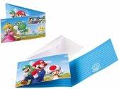 Super Mario uitnodigingen 8 stuks