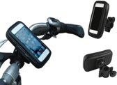 Kwaliteits-Fietshouder voor Smartphones (universeel maat XL), Waterdichte Fietshouder Schokbestendig, passende maten: lengte +/- 135-170mm, breedte +/- 70-90mm o.a. iPhone en Samsung