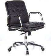 hjh office Villa 10 - Bureaustoel - Nappaleder - Zwart