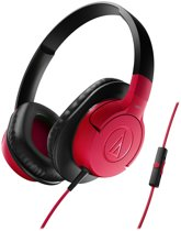 Audio Technica AX1IS - Over-ear koptelefoon - Rood