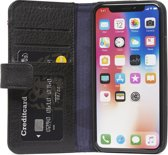 Decoded Drop Protection Wallet - Premium Leren Book Cover met magneetsluiting  voor iPhone Xs / X - Zwart