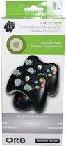 Orb Dubbel Docking Station + 2 Oplaadbare Batterijen - Zwart (Xbox 360)