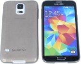 Samsung Galaxy S5 0.3 mm Ultra Thin Matte Soft Back Skin case Transparant Grijs Grey