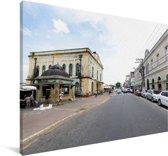 Straat bij Belém in het noorden van Brazilië Canvas 120x80 cm - Foto print op Canvas schilderij (Wanddecoratie woonkamer / slaapkamer)