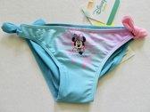 Turquoise bikinibroekje van Minnie Mouse maat 74