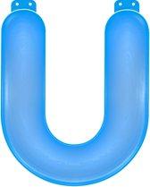 Opblaas letter U blauw