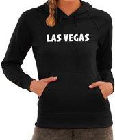 Las Vegas/wereldstad tekst hoodie zwart voor dames - zwarte Las Vegas sweater/trui met capuchon 2XL