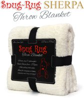 Gift House International Snug-Rug Sherpa - Deken - Cream