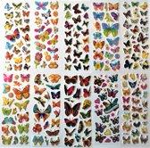 Super leuke 10 vellen stickers voor kinderen - Hoge kwaliteit kinderstickers - Verschillende soorten vlinders - Butterfly