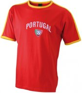 Rood t-shirt voetbal Portugal 2xl