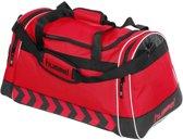 Hummel Sporttas - 63 x 33 x 34cm - rood/zwart