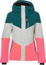 O'Neill Perform Women Coral Wintersportjas - Maat XL  - Vrouwen - donker groen/ wit/ roze