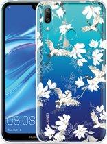 Huawei Y7 2019 Hoesje White Bird