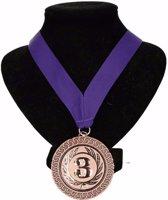 Kampioensmedaille nr. 3 aan paars lint