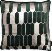 Velvet Honeycomb Groen Kussenhoes | Fluweel - Polyester | 45 x 45 cm | Goud