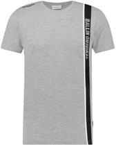 Ballin Amsterdam Two Tone Logo Stroke T-shirt Grey Black