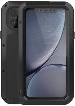 Metalen fullbody hoes voor Apple iPhone 11 Pro Max, Love Mei, Metalen extreme protection case, Zwart