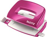 Leitz WOW metalen mini perforator, roze