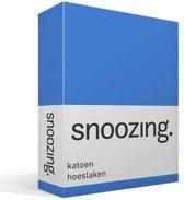 Snoozing - Katoen - Hoeslaken - Eenpersoons - 90x200 cm - Meermin