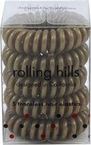 Rolling Hills 5 traceless hair elastics garden green