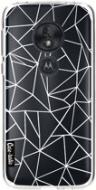 Casetastic Softcover Motorola Moto G7 Play - Abstraction Outline White Transparent