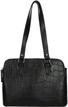 LouLou Essentiels Vintage Croco handtas black