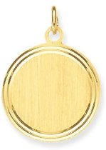 Classics&More - Gouden Graveerplaatjes Rond - 18 mm