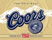Coors Gold, Metalen wandbord 31.5x41.5cm