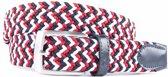 Vrolijke multicolor webbing riem - Maat: 85 cm