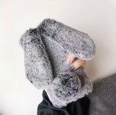 Bunny telefoonhoesje - konijnen hoesje - Samsung A50 - Grijs