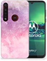 Motorola Moto G8 Plus Hoesje maken Pink Purple Paint