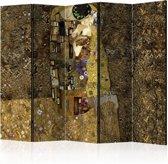 Vouwscherm - Gouden kus 225x172cm
