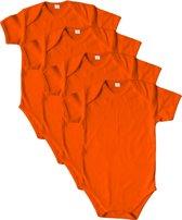 Link Kidswear - Romper korte mouw - Maat 50/56 - Oranje - 4 stuks