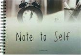 "Notitieboek ongelinieerd ""Note to Self"" | A5 | Planningwize"