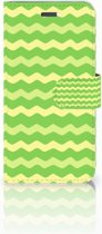 Lenovo Vibe K5 Boekhoesje Design Waves Green