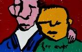 Herman Brood Schilderij Zeefdruk 'For ever (Friends)'