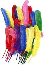 Veren, l: 20 cm, diverse kleuren, 36stuks