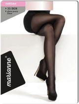Marianne panty 35 DEN Zwart maat XXL+(48-50)