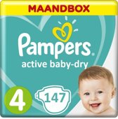 Pampers Active Baby Dry maat 4 - 147st