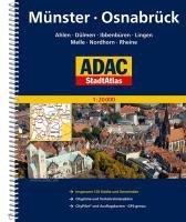 ADAC Stadtatlas Münster/Osnabrück mit Ahlen, Dülmen, Ibbenbüren, Lingen, Melle 1 : 20 000
