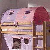 Bedtunnel groot - paars/roze hart