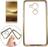 Huawei Mate 8 - hoes, cover, case - TPU - Transparant - Goud